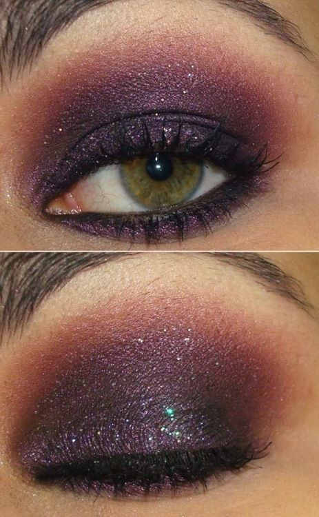 Gorgeous and purples look especially fab on green eyes!