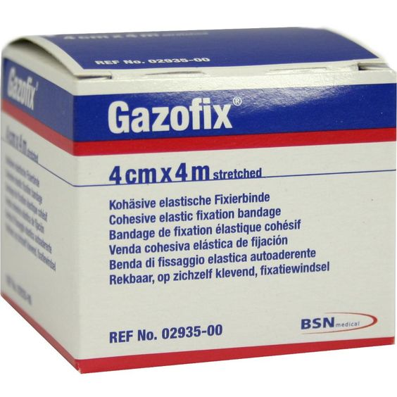GAZOFIX Fixierbinde 4 cmx4 m hautfarben:   Packungsinhalt: 1 St Binden PZN: 01330082 Hersteller: BSN medical GmbH Preis: 2,82 EUR inkl.…