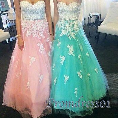 Prom dresses long, beautiful organza sweetheart dress for teens #coniefox #2016prom