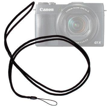 DURAGADGET Lanière d'attache / tour de cou élégant et résistant pour appareil photo Bridge Canon PowerShot G16, G1X Mark II/M2 et SX700 HS: ...