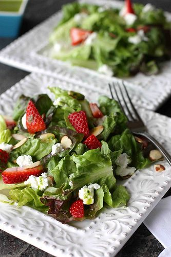 Strawberry & Goat Cheese Salad