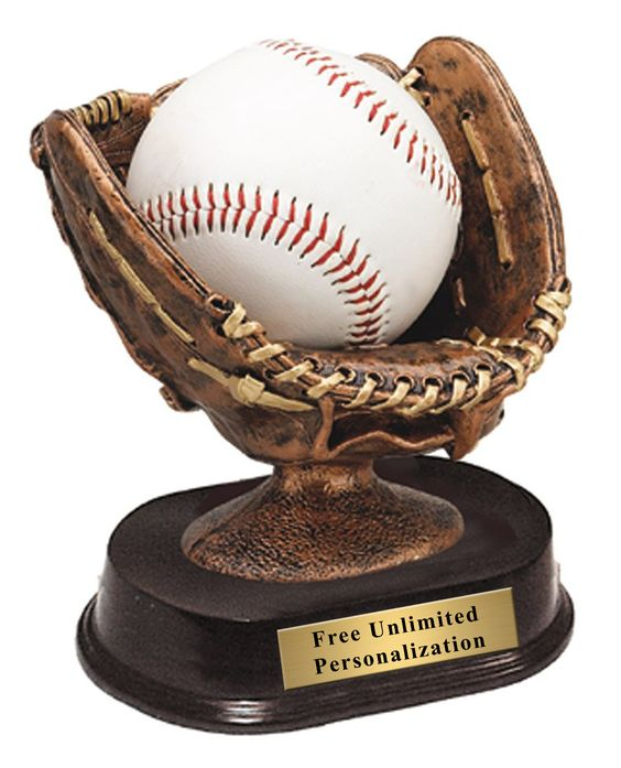 This 5″ Resin Glove Baseball Trophy is big enough to hold a signed ball with all the players' names. Great detail! Take the coaches' gifts and memories one step further. We get more positive comments on this trophy than any other. These trophies are AWESOME! (Ball not included)