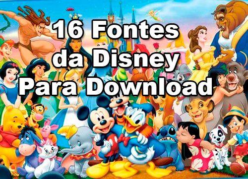 Fontes Walt Disney Fonte Walt Disney Walt Disney Disney