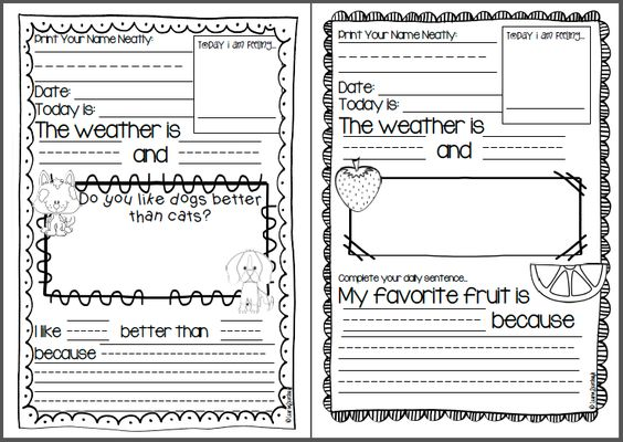 The Writing Prompts Workbook  Grades      Story Starters for Journals  Assignments