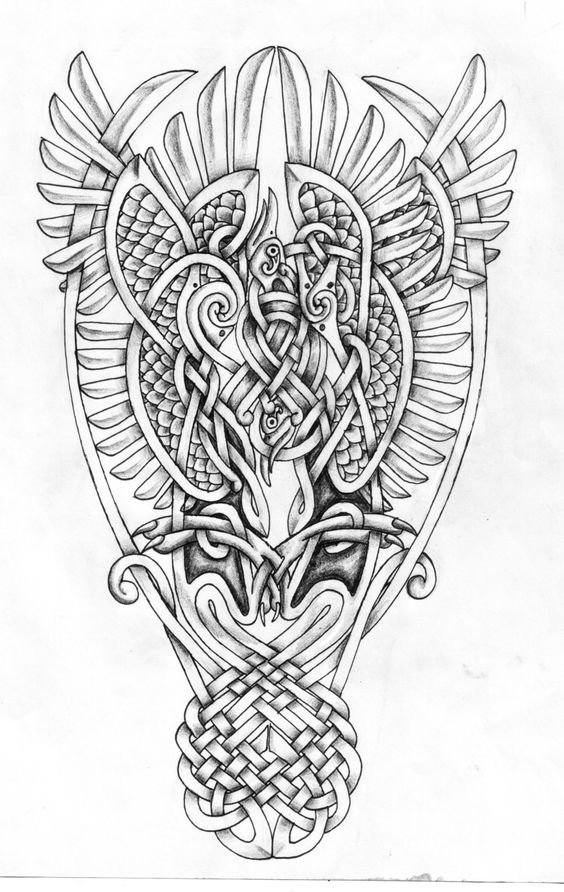 Celtic Phoenixes shaded by Feivelyn.deviantart.com on @deviantART
