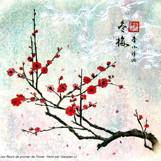 Photos cerisier japonais en fleur dessin pinteres - Cerisier dessin ...