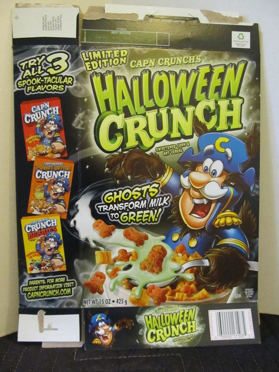 halloween capn crunch 2010 package - Captain Crunch Halloween