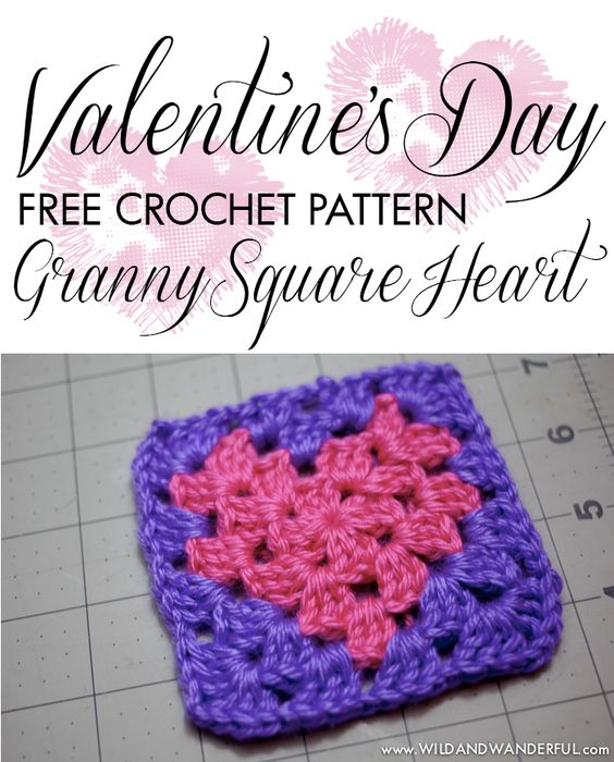 Crochet Granny Square Heart Patterns : Home, Crochet granny and Crochet granny squares on Pinterest