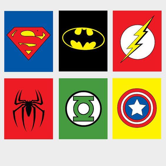 6 Printable Super Hero Superhero Wall Art Spiderman By