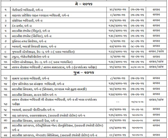Gpsc Exam Schedule  Upcoming Exam Dates Download Time