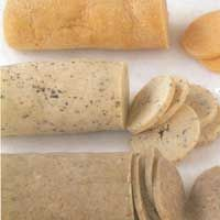 Refrigerator or freezer biscuits are made from a stiff dough that is refrigerated to become even stiffer.