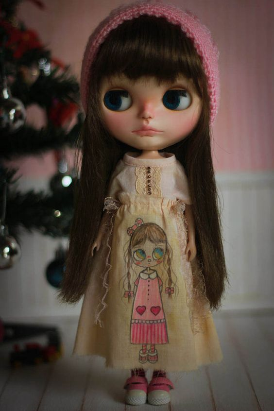 Mima Dollie Art Vintage Dress Hand-painted For by CutieStorecom