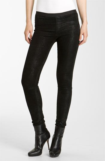 Helmut Lang Patina Lambskin Leather Leggings available at #Nordstrom