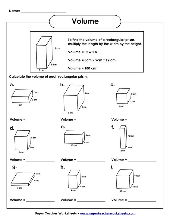 Worksheets Calculating Volume Worksheets 5th grade math and grades on pinterest volume of rectangular prism worksheet worksheets