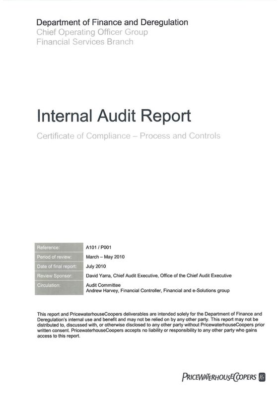 Internal Audit Report Examples Pdf Word Examples Intended For