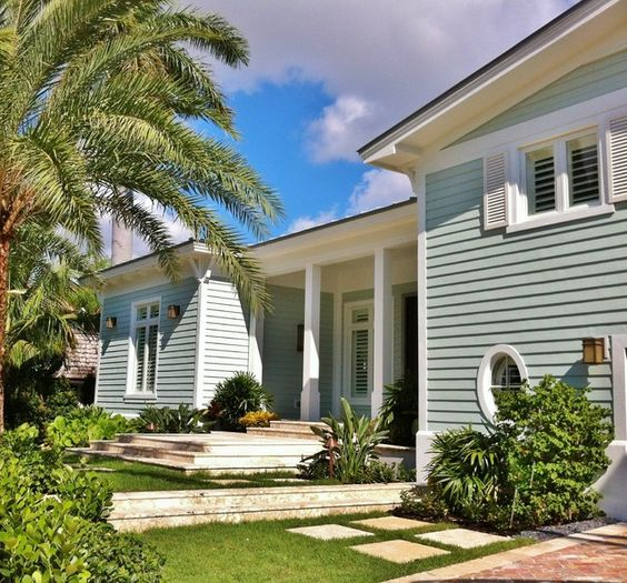 Colors exterior colors and tropical on pinterest for Tropical exterior house colors
