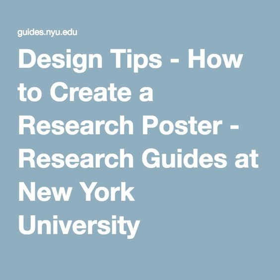 Design Tips  How To Create A Research Poster  Research Guides At