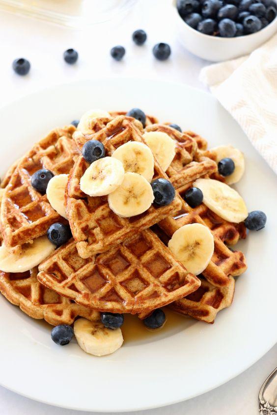 Healthy Oatmeal Banana Waffles