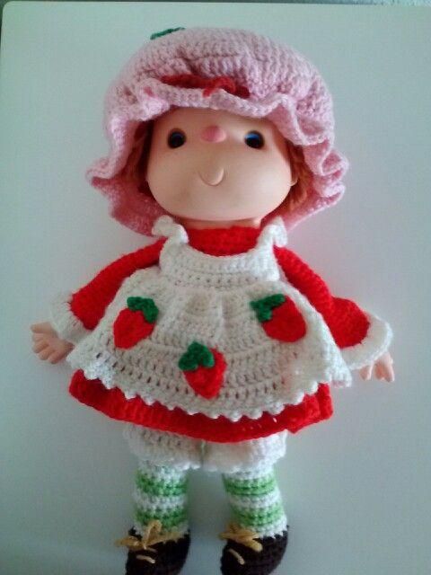 Vintage Crochet Strawberry Shortcake Dolls Pattern Vintage 1980s