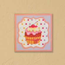 cupcake wall art -Cupcake wall art is such fun to add to any room, you can buy them individually or as a set of 4 cupcake prints.