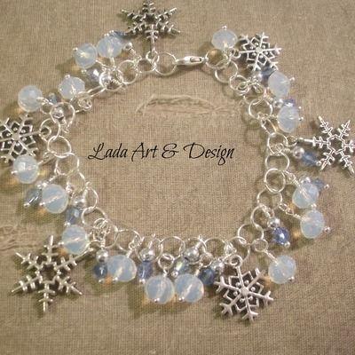 Sparkly snowflake bracelet