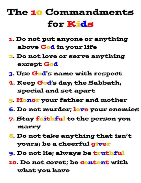 The Ten Commandments for Kids - Exodus 20