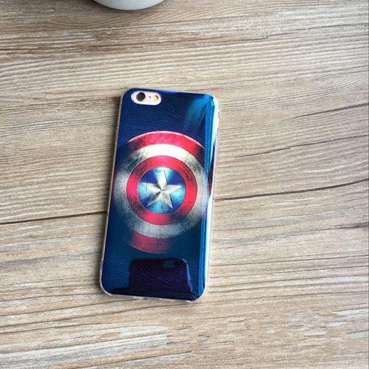 Captain America Blau-Plattierung TPU Handyhülle für Ihpone6/6s/6plus