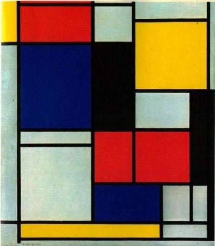 Piet Mondrian composition