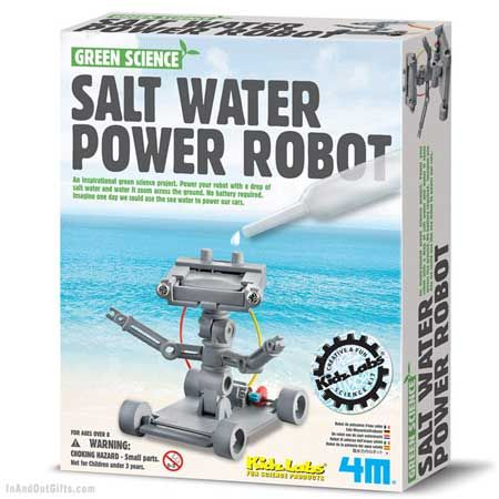 4M Salt Water Power Robot--no batteries...whoo hoo