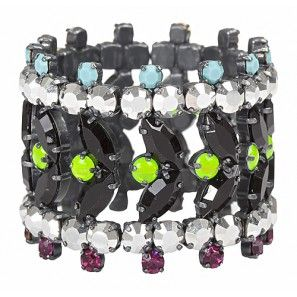 Multi Colour Bracelet with Swarovski Crystals Shop online http://www.dazzlingjewellery.net/shop/product.php?id_product=548