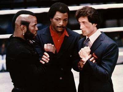 mr t carl and sly rocky balboa pinterest