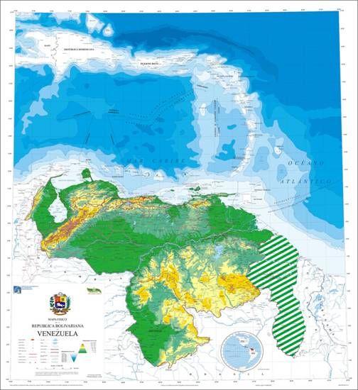mapa de venezuela con la zona en reclamacion - Buscar con Google