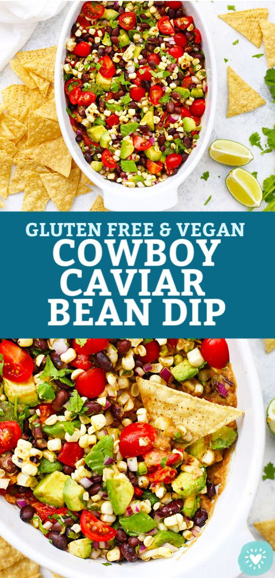 Cowboy Caviar Bean Dip (Gluten Free & Vegan)