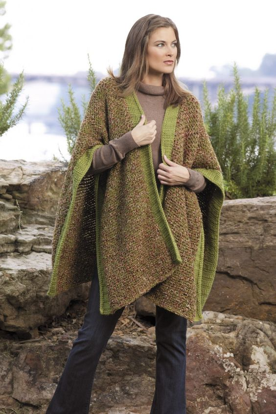 Free Tunisian Crochet Poncho Patterns : Ultimate Beginners Guide to Tunisian Crochet Afghan ...
