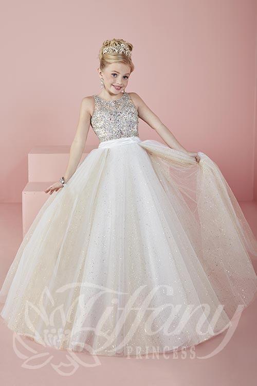 Little Girls Pageant Dress Tiffany 13476 Size 4,8,12 Ivory ...