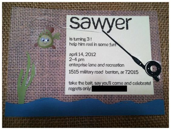 Personalized Fishing Theme Birthday by tootieloudesigns on Etsy