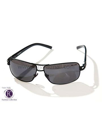 Buy Designer Sunglasses Authentic Wear Black Metallic Frame Black Lens • GujaratMall.com