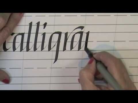 Left Handed Calligraphy For Beginners And Videos On Pinterest