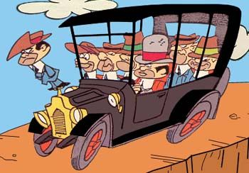 The Ant Hill Mob  Their Car Chugaboom From 'The Perils of Penelope Pitstop'