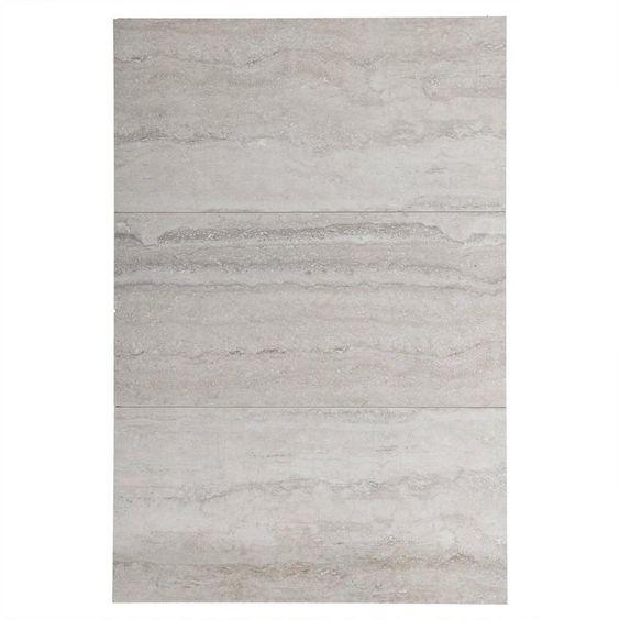 Travertini Grigio Porcelain Tile - 12in. x 24in. - 100008945 | Floor and Decor