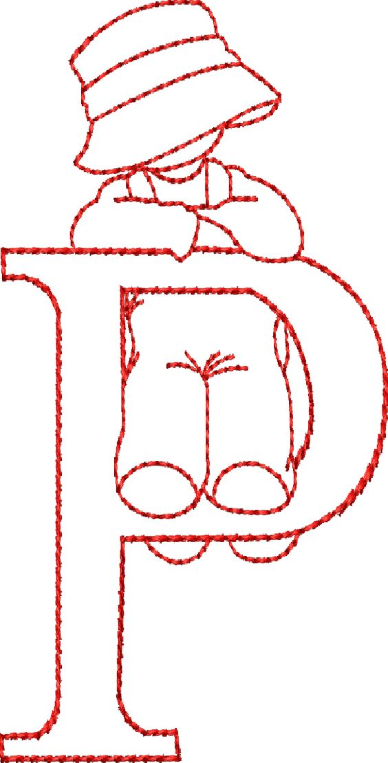 Alfabetos Lindos: Moldes: