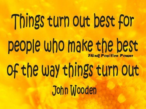 Things turn out the best...