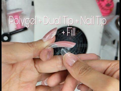 Polygel Dual Form Nail Tip Fill Youtube Polygel Nails Nail Tips Gel Nails Diy