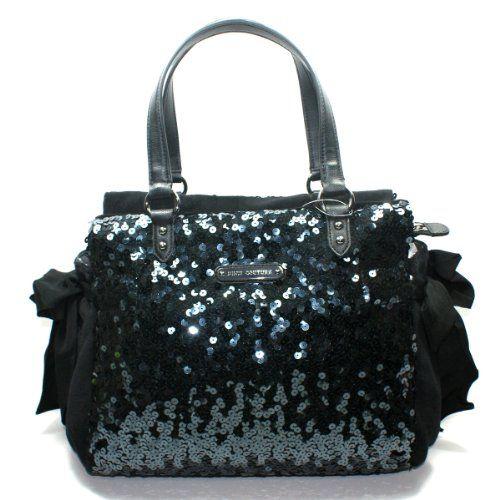 Juicy Couture Black Sequin Daydreamer Shoulder Bag (Black) #YHRUO012
