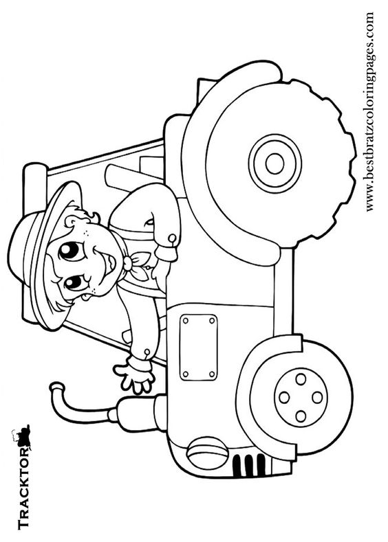 Tractors coloring pages and coloring pages for kids on for Tractor coloring pages for toddlers