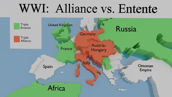the involvement of germany russia and britain in world war i The key conflict in world war i was the conflict between france and germany which had historic roots but in modern terms began with franco-prussian war and the unification of germany britain at times had sided with the german states when germany declaring war on russia (august 1.