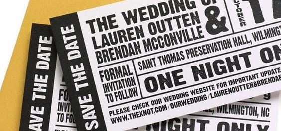Wedding Invitation Design Roundup u2013 Music Concert tickets - concert ticket invitations