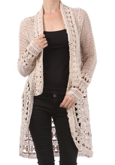 for mom to make me!!!!  Crochet Cardigan