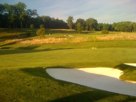 Caves Valley Golf Club - Looking up to the 7th green from the 9th fairway