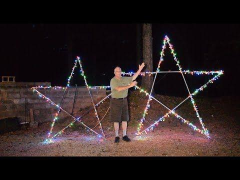 10 Foot 5 Point Star For Christmas Light Display Youtube Star Christmas Lights Christmas Light Displays Diy Christmas Lights